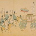 엔쿄(1744~1747)년간 조선내빙사도-부분