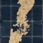 겐로쿠(1688~1704) 쓰시마국 그림도-전도