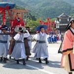 쓰시마시에서 개최된 조선통신사 행렬 재현 모습