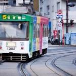長崎市内を走る路面電車2